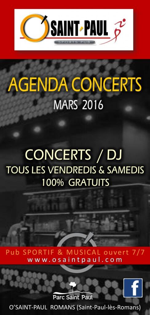agenda mars 2016